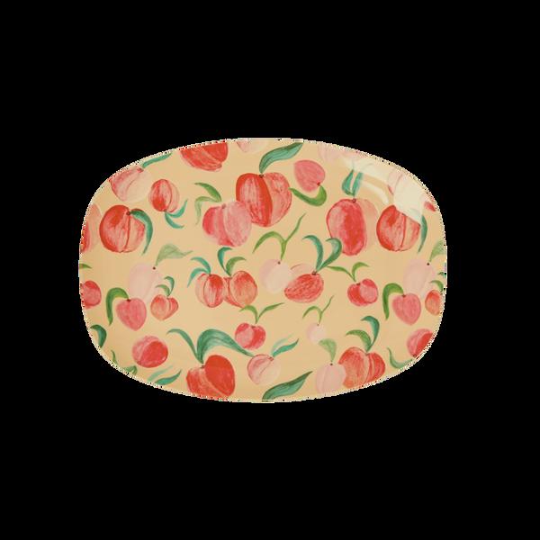 Bilde av LITEN REKTANGULÆR ASJETT - Peach Prints - Rice