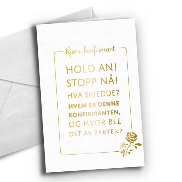 Bilde av KORT TIL KONFIRMANTEN - Hold an, Stopp nå