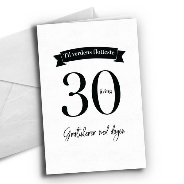 Bilde av KORT - 30 åring - Bursdagskort