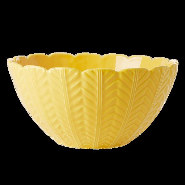 Bilde av SALATBOLLLE - Gul - Keramikk - Rice