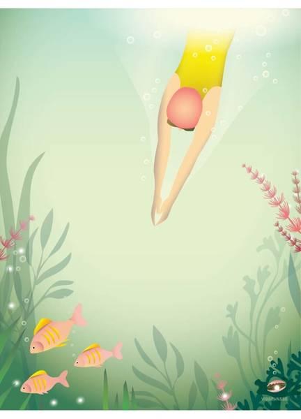 Bilde av PLAKAT - Swim Like a Fish - Vissevasse